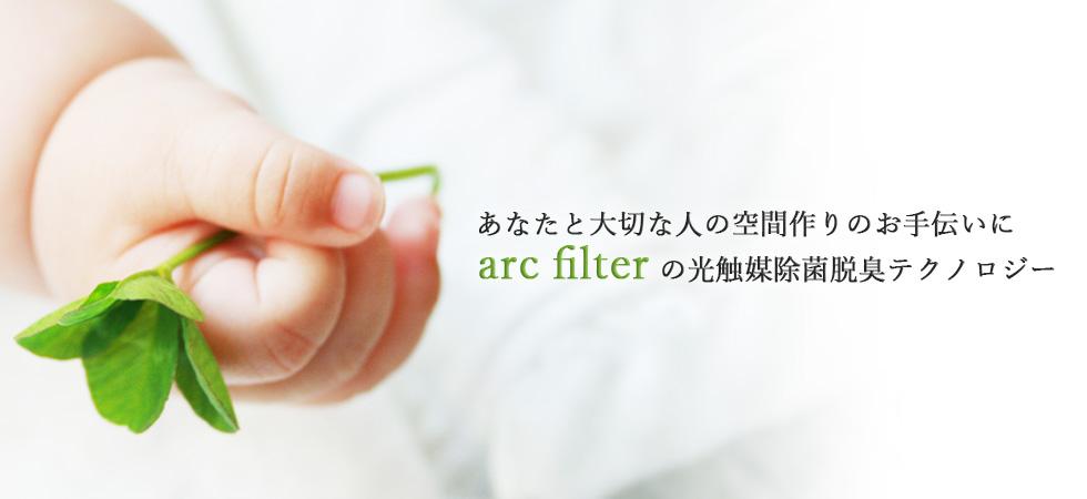 あなたと大切な人の空間作りのお手伝いに。arc filterの光触媒除菌脱臭テクノロジー